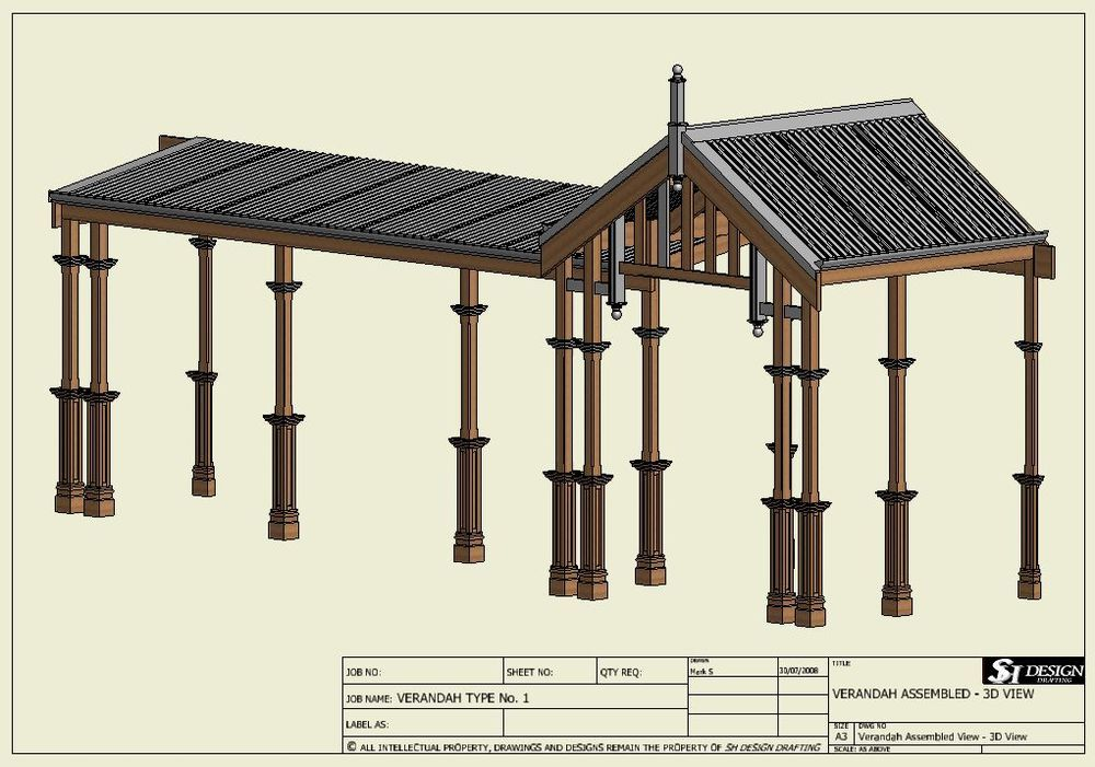 Traditional Timber Verandah Full Building Plans 2d 3d Ebay Building Plans House Building Plans Building A House