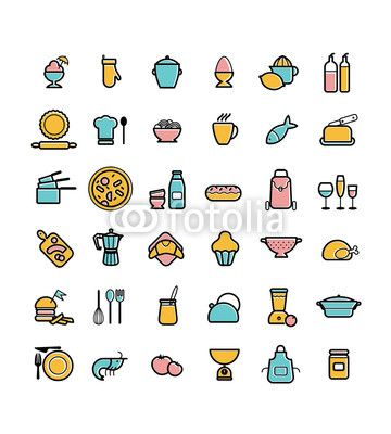Icons ustensiles ingredients de cuisine pictogramme cuisiner icons pinterest - Pictogramme cuisine gratuit ...