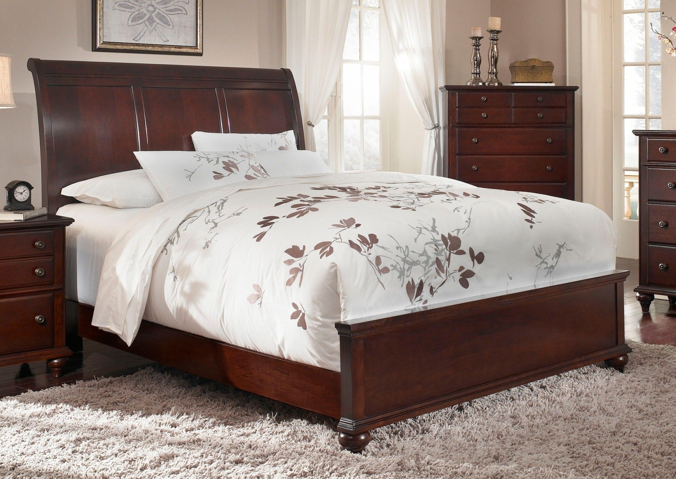 Hayden place dark cherry sleigh bed bed frames sleigh - Broyhill hayden place bedroom set ...