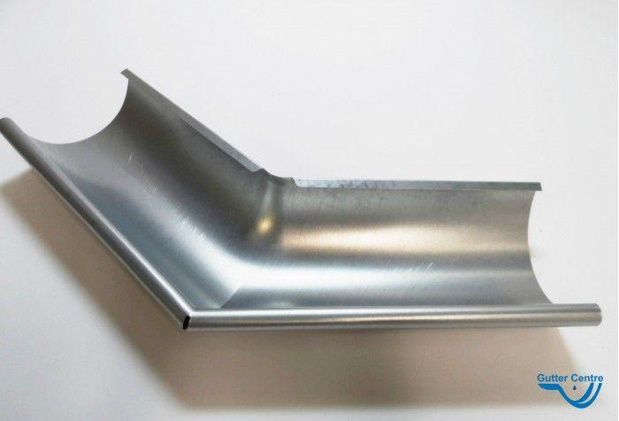Lindab Galvanised Steel Half Round External Gutter Angle 135