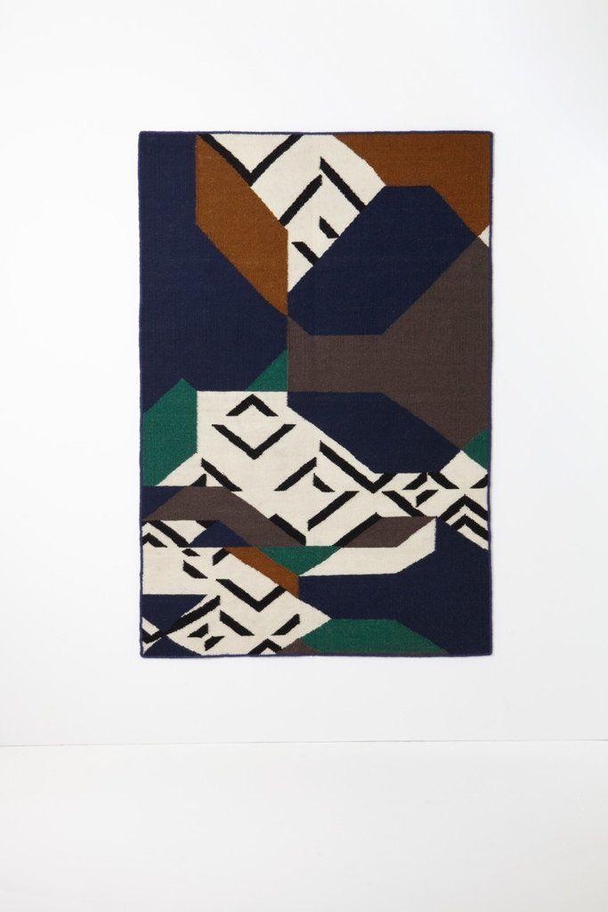 Ma Poesie Lakme Blue Rug -120 x 180cm | Felizhome