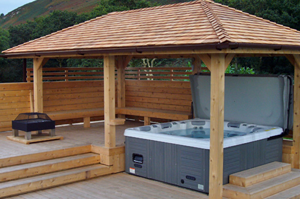 Hot Tub Wooden Surround Google Search Hot Tub Outdoor