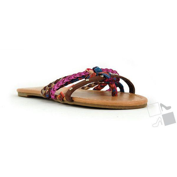 Multi Straps Slide Sandal MyHotShoes.com via Polyvore