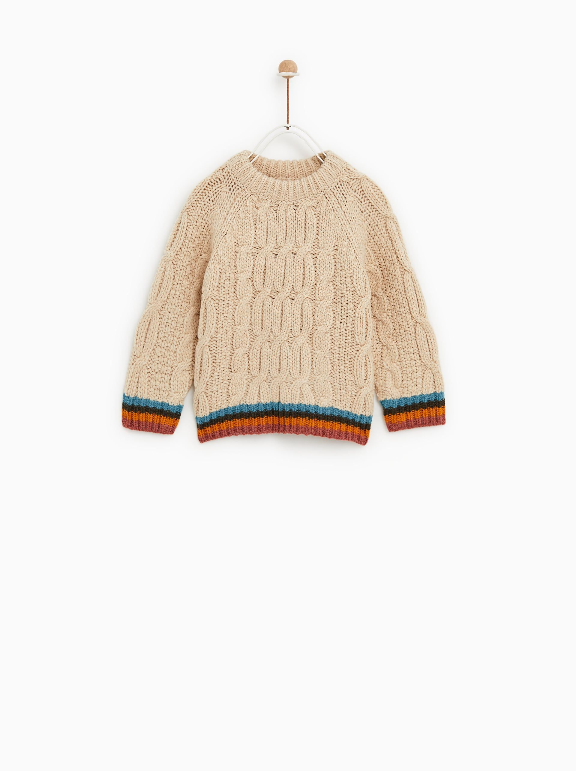 ceaa5e6a1 Image 1 of CABLE KNIT SWEATER from Zara