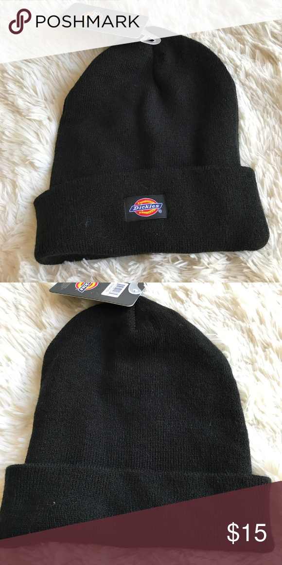 55d6b21fc0ef1 NWT Dickies Black Beanie Logo Patch Excellent condition. Dickies  Accessories Hats