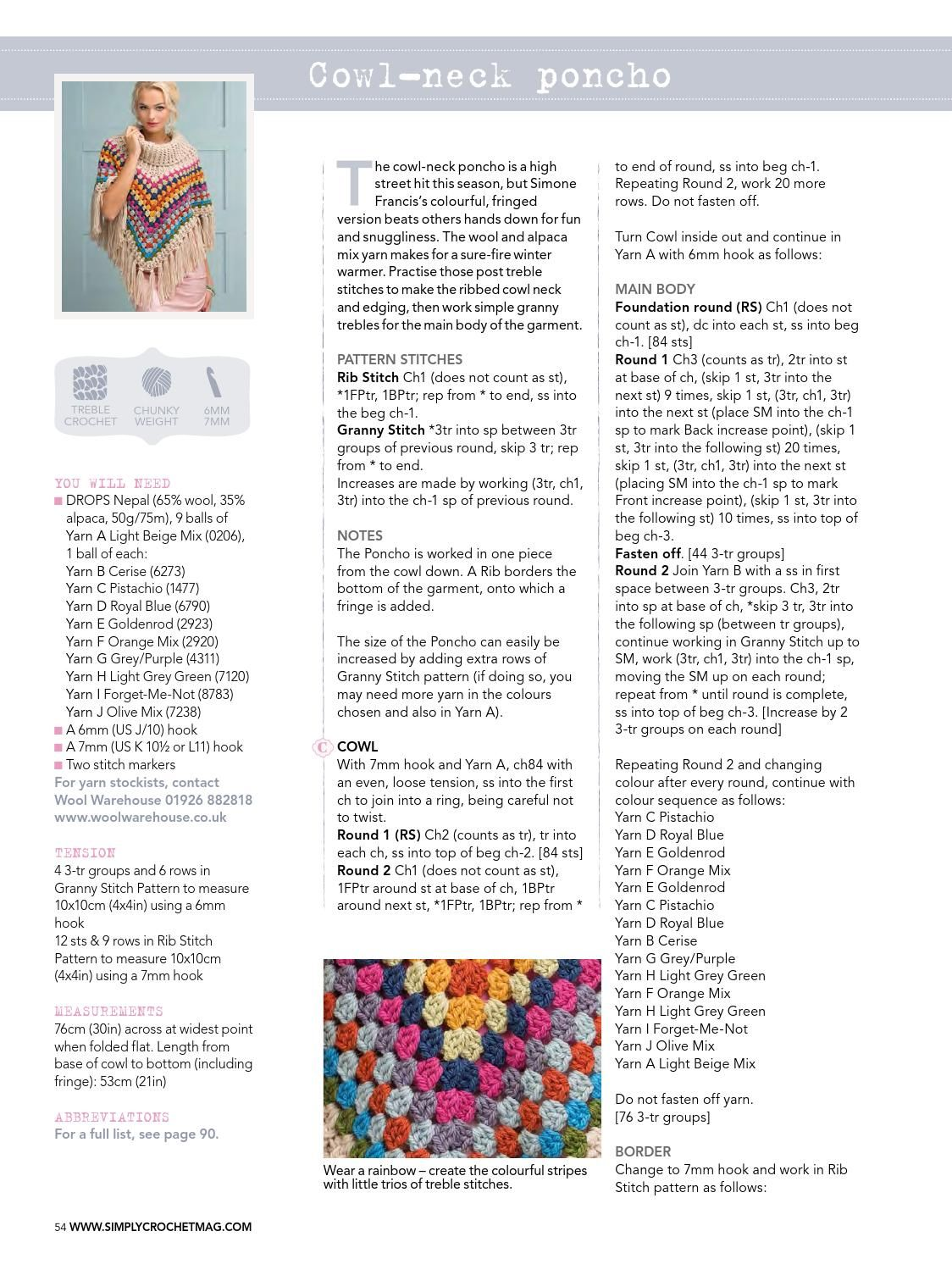 Simply crochet issue 25 december 2014 | CHALS, CUELLOS Y BUFANDAS ...