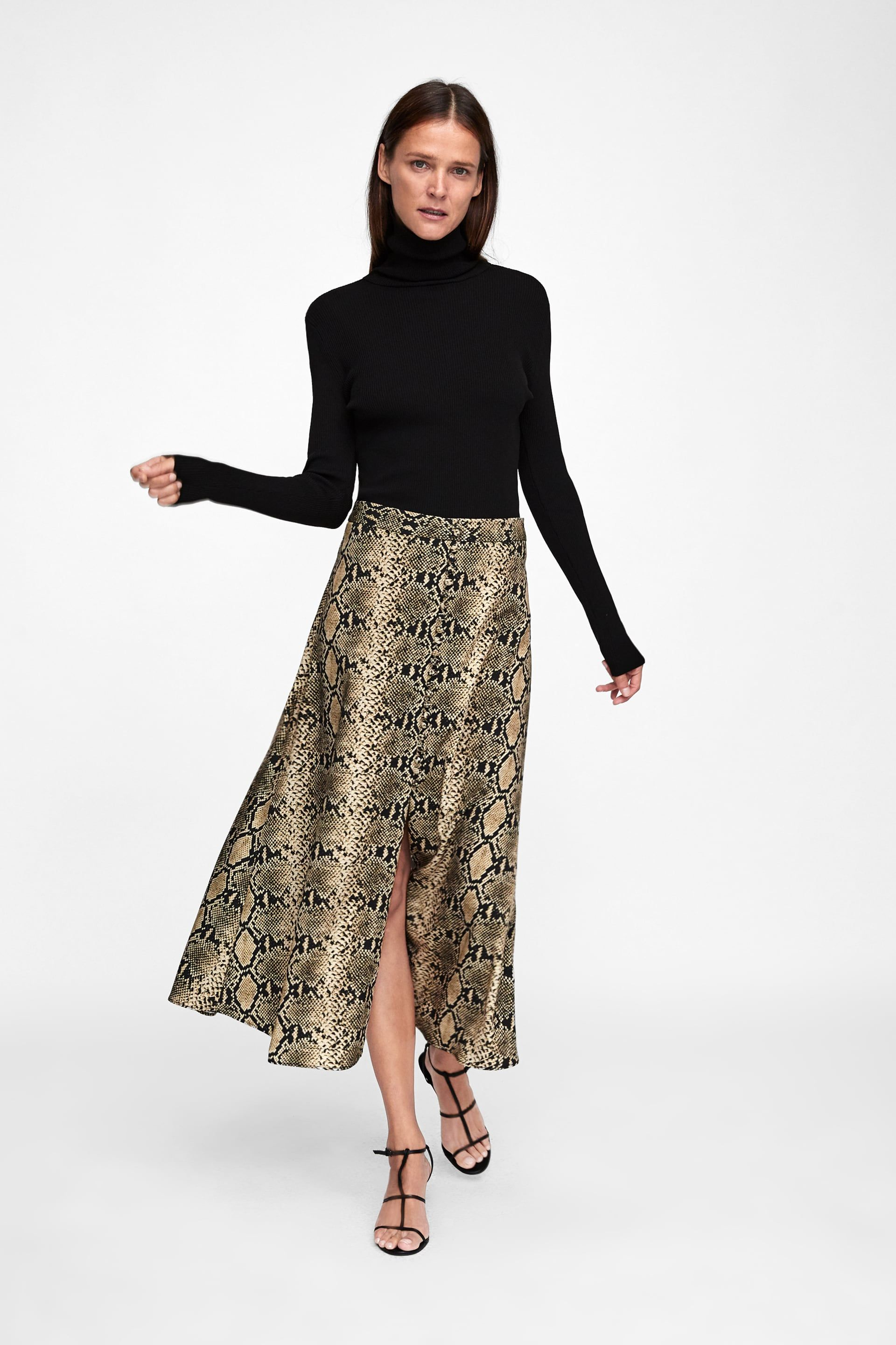 58aa687508 FALDA ESTAMPADO SERPIENTE in 2019 | Looks I Love | Skirt fashion ...