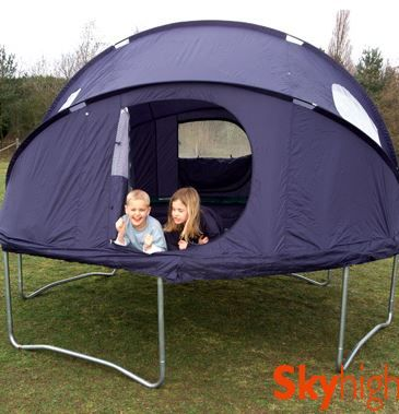 Sleep On A Tr&oline Instead Of Hard Ground With This Tr&oline Tent & Sleep On A Trampoline Instead Of Hard Ground With This Trampoline ...