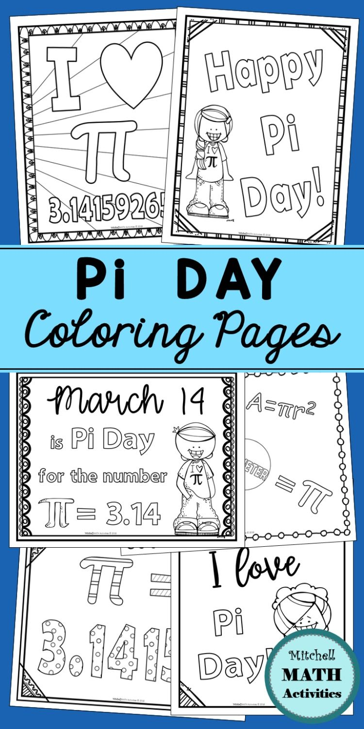 Pi Day Coloring Pages And Measuring Activity Coloring Pages Measurement Activities Math Activities [ 1500 x 750 Pixel ]
