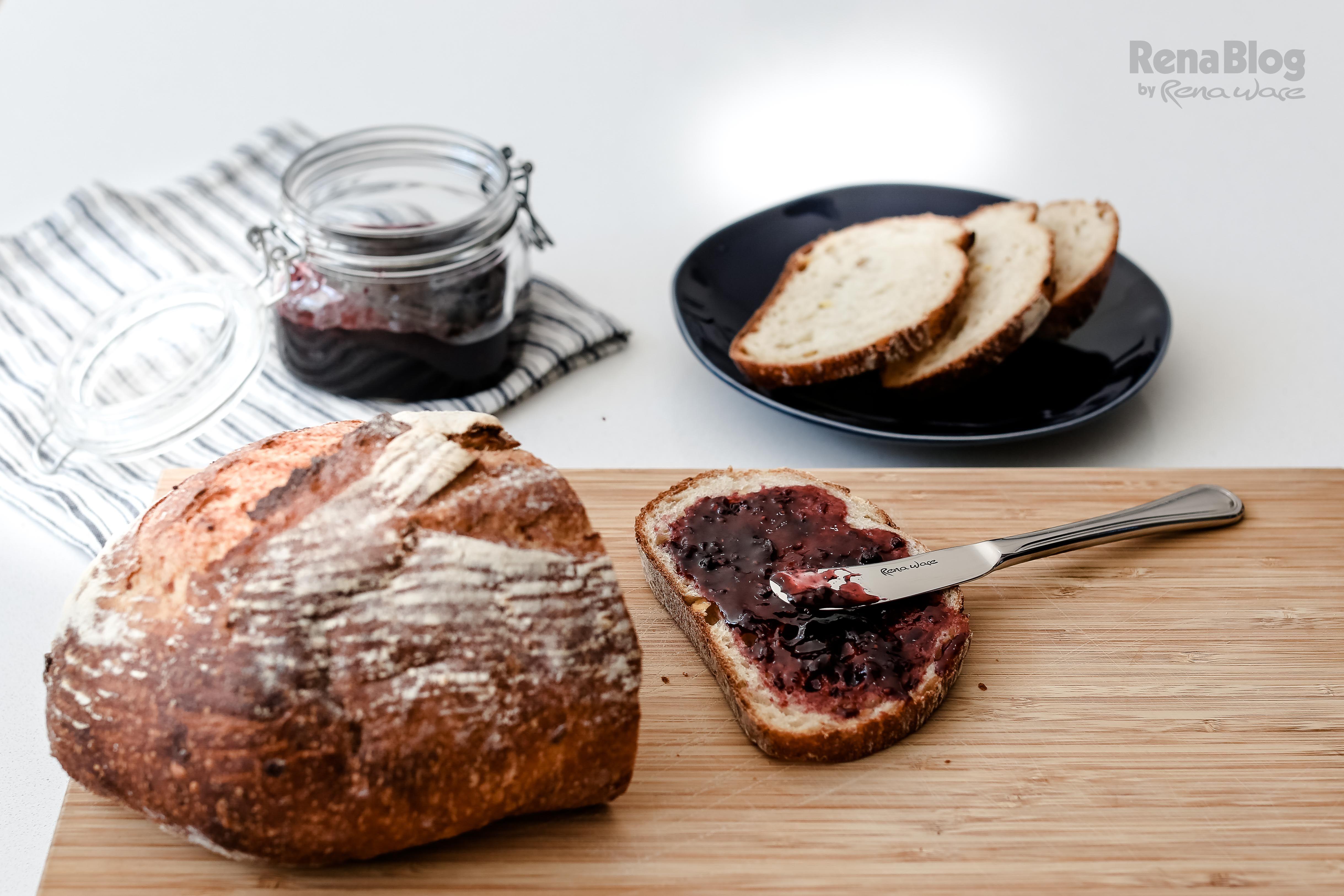 Cuchillo para mantequilla del Juego de Cubiertos Mónaco de Rena Ware, ideal para untar mermelada.
