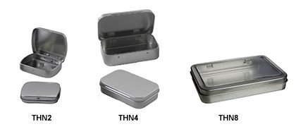 Specialty Bottle - Hinged Tin Containers - for those Altoids tin ideas when you don't eat Altoids!!