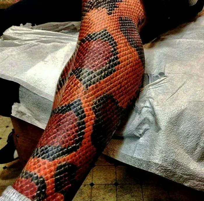 Snakeskin Tattoo by Kryz Jewell