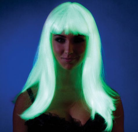 Radiant Glow In The Dark Wig Party City Glow Costume Wigs With Bangs Wig Party