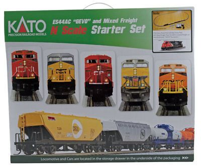 Starter Sets and Packs 22547: Kato-Ge Es44ac Gevo Mixed Freight Starter Set -- Cn Loco, 6 Cars, Unitrack M1 Ba -> BUY IT NOW ONLY: $280.5 on eBay!