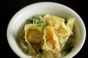 Second Course : Soup (Non Veg)  A special summer delight, the wonton soup is a light and very relishing Chinese recipe!  #Italianweddingsoup #Soup #Summer2014