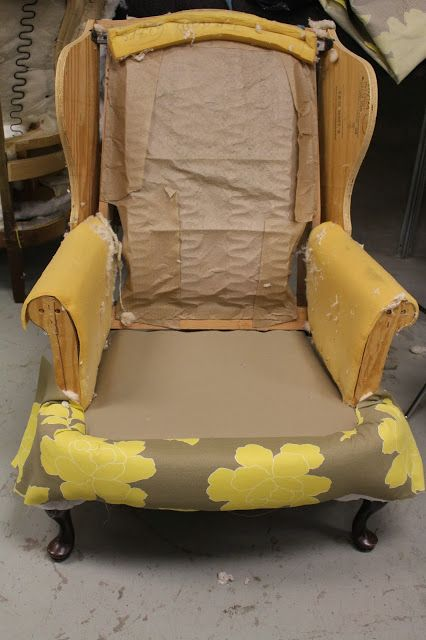Back on Festive Road: Wingback chair makeover part 3
