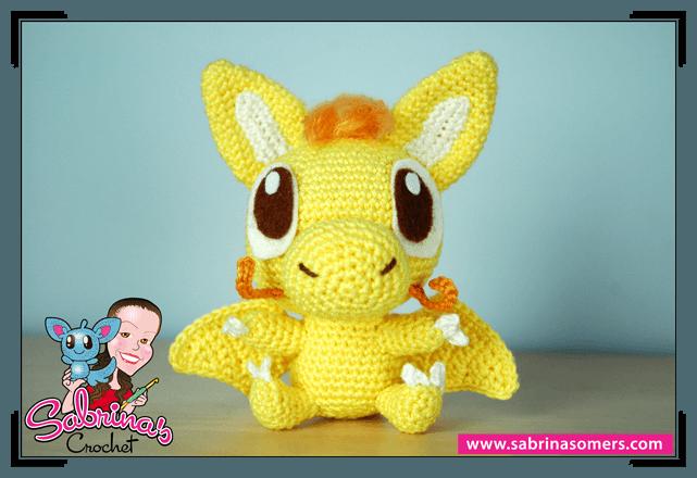 Yellow Dragon - Crochet Pattern - Amigurumi