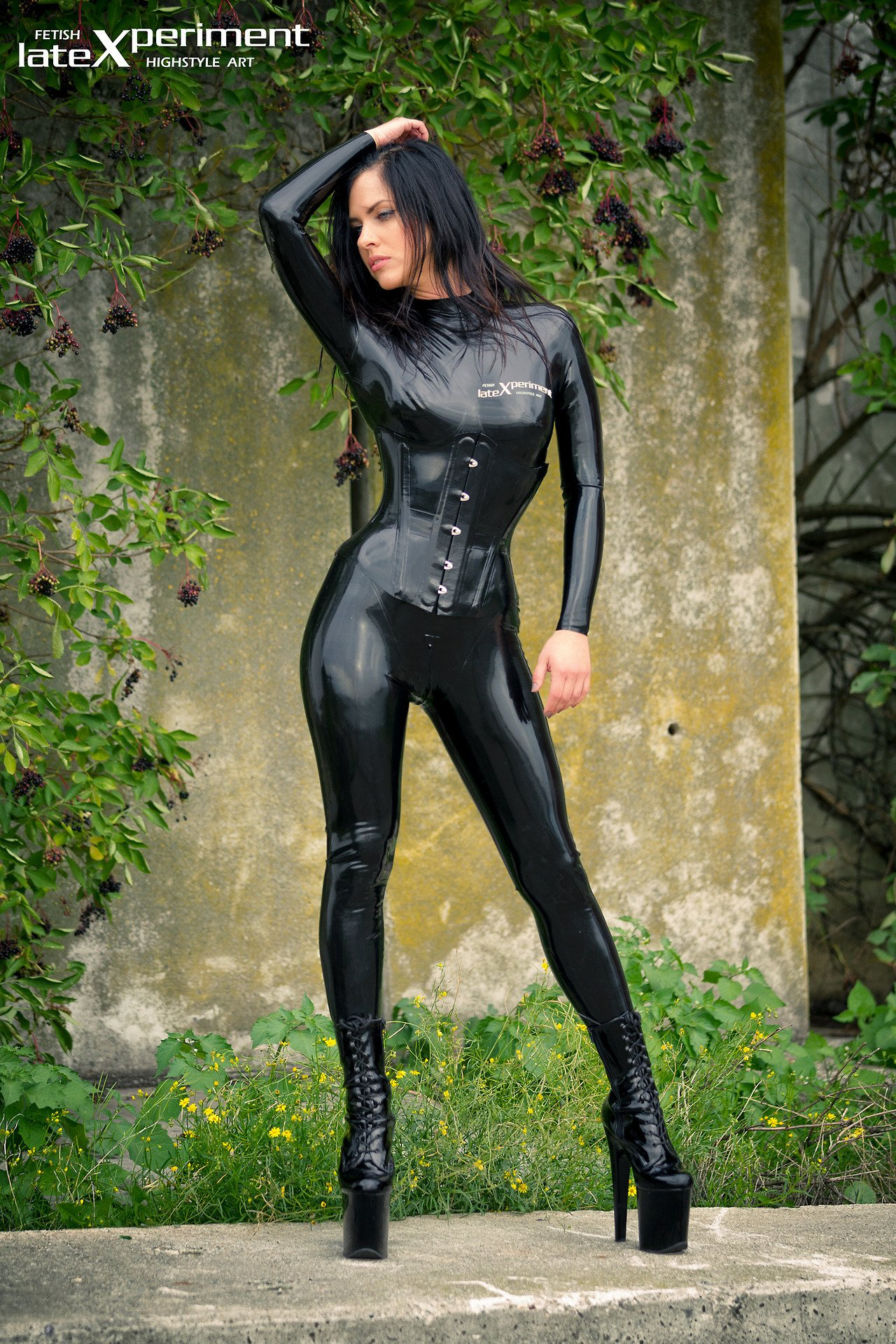 2528367fcb Pin on Latex Catsuit