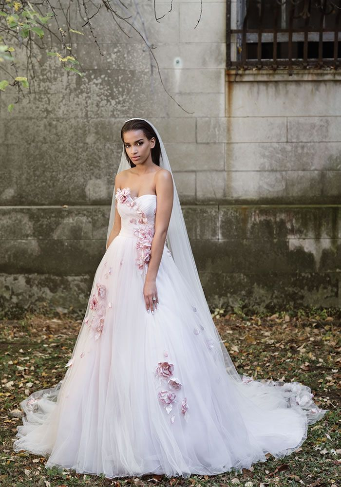 eaa4e1575a1b Brides LOVE blush pink and flowers, so why not wear them on your dress too