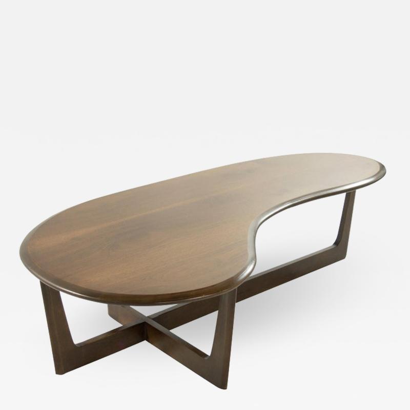 Asymmetric Mid Century Modern Walnut Coffee Table Walnut Coffee Table Modern Coffee Table Table