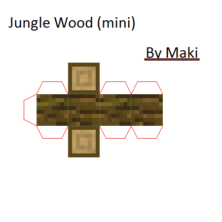 Papercraft Jungle Wood Minecraft Crafts Paper Crafts Papercraft Minecraft Skin