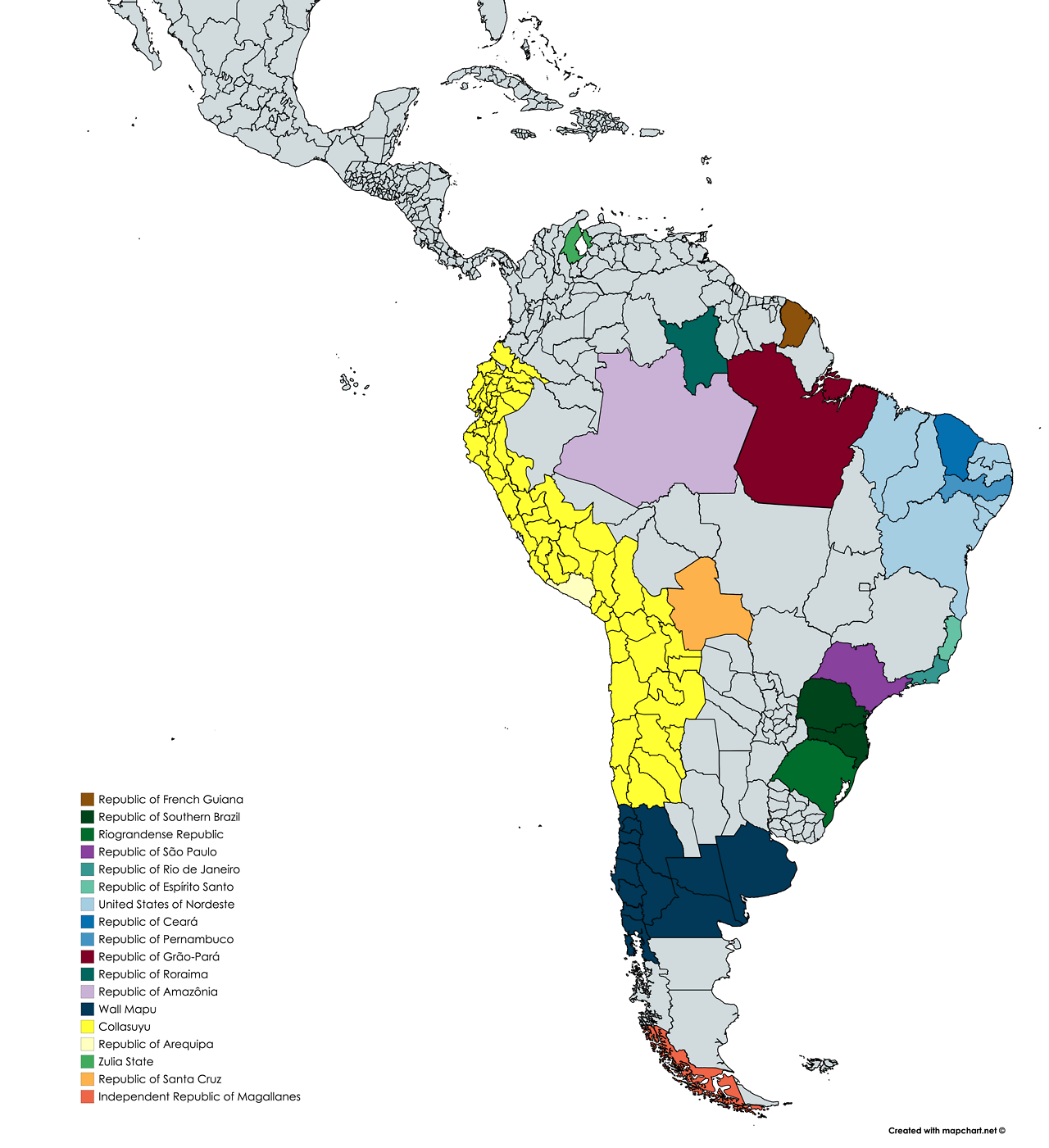 Current Separatist Movements in South America Country Names