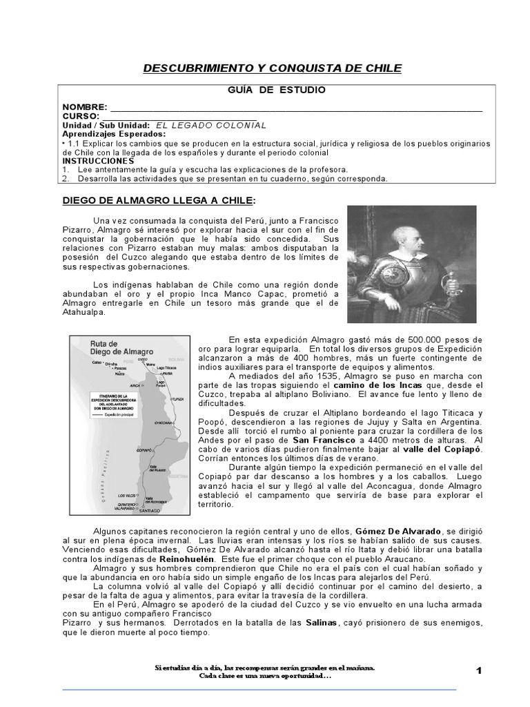 I M Reading Guía Descubrimiento Y Conquista De Chile On