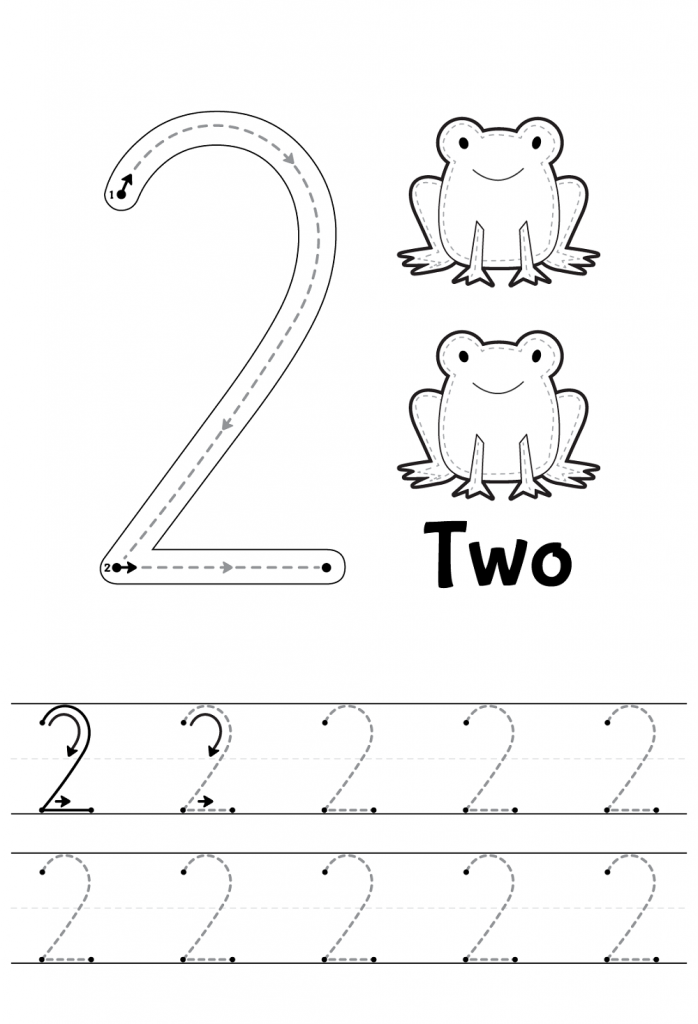 Number 2 Tracing Worksheets Preschool number worksheets