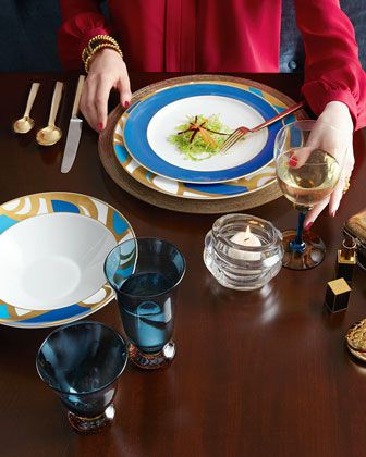 Blue Fine China From Dvf Diane Von Furstenberg Interlude
