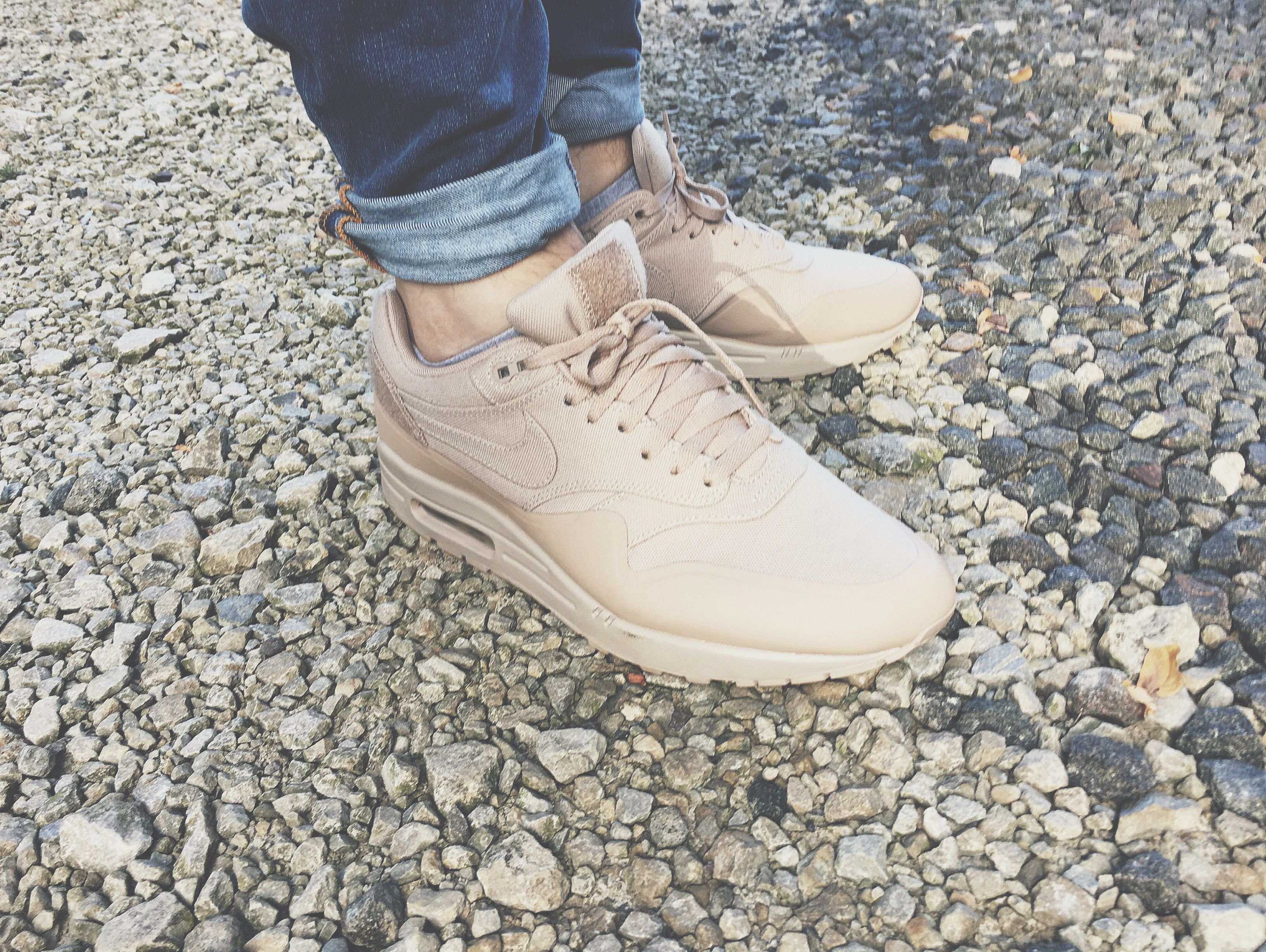 Nike Air Max 1 V SP – Patch Sand Beige on feet
