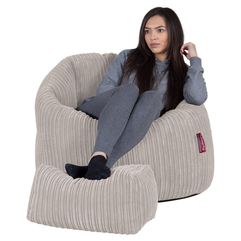 Awesome Cuddle Up Bean Bag Chair Cord Ivory High Street House Andrewgaddart Wooden Chair Designs For Living Room Andrewgaddartcom