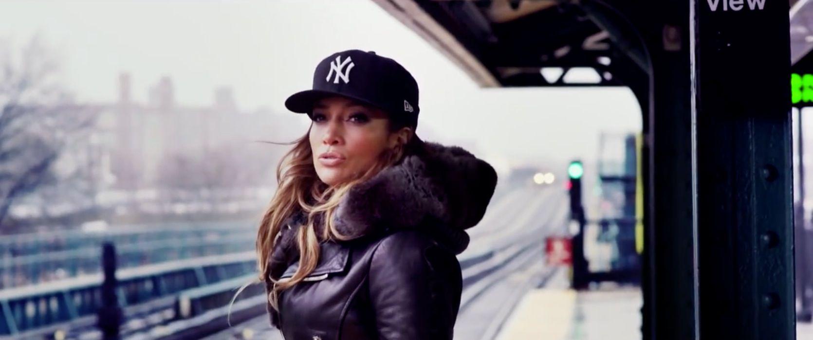 New York Yankees x New Era cap worn by Jennifer Lopez in SAME GIRL by  Jennifer Lopez (2014)  New York Yankees  New Era 5f68e3e7b
