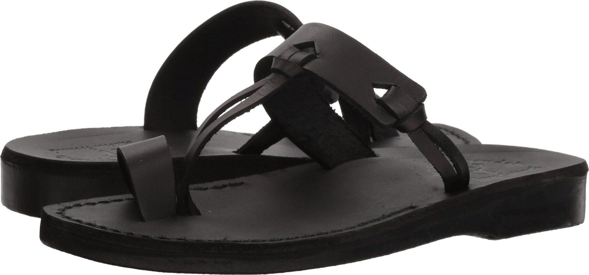 Jerusalem Sandals Womens David Slide Sandal Black 38