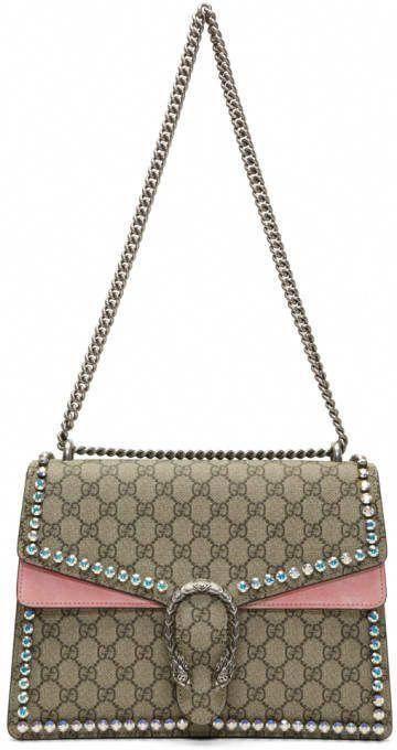 741d67bc2 Gucci Brown and Pink Medium GG Supreme Dionysus Bag #Guccihandbags .