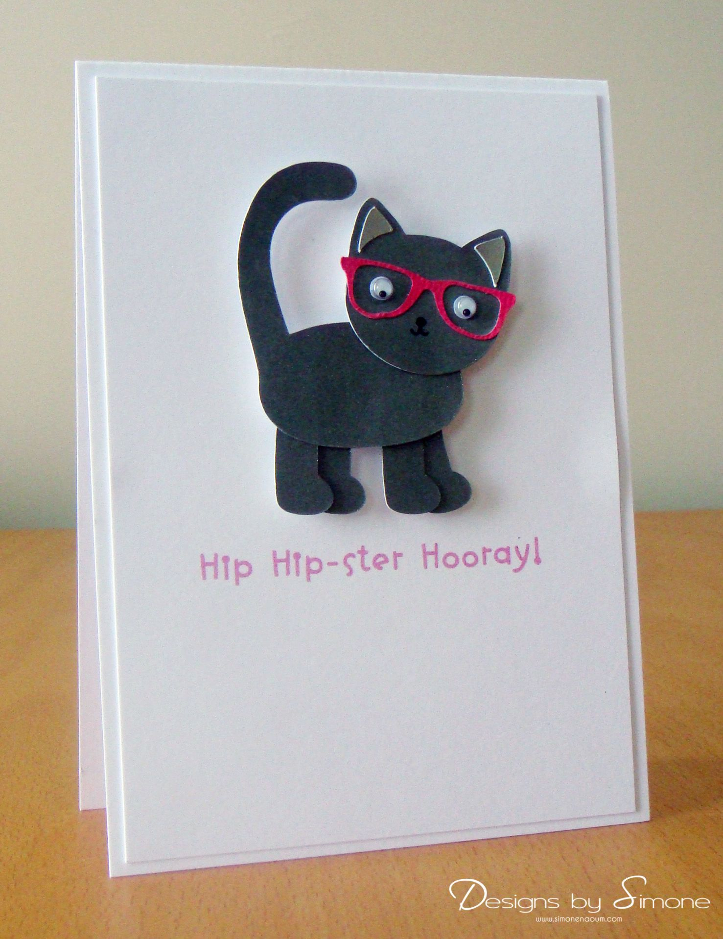 Hipster Birthday Cat Card
