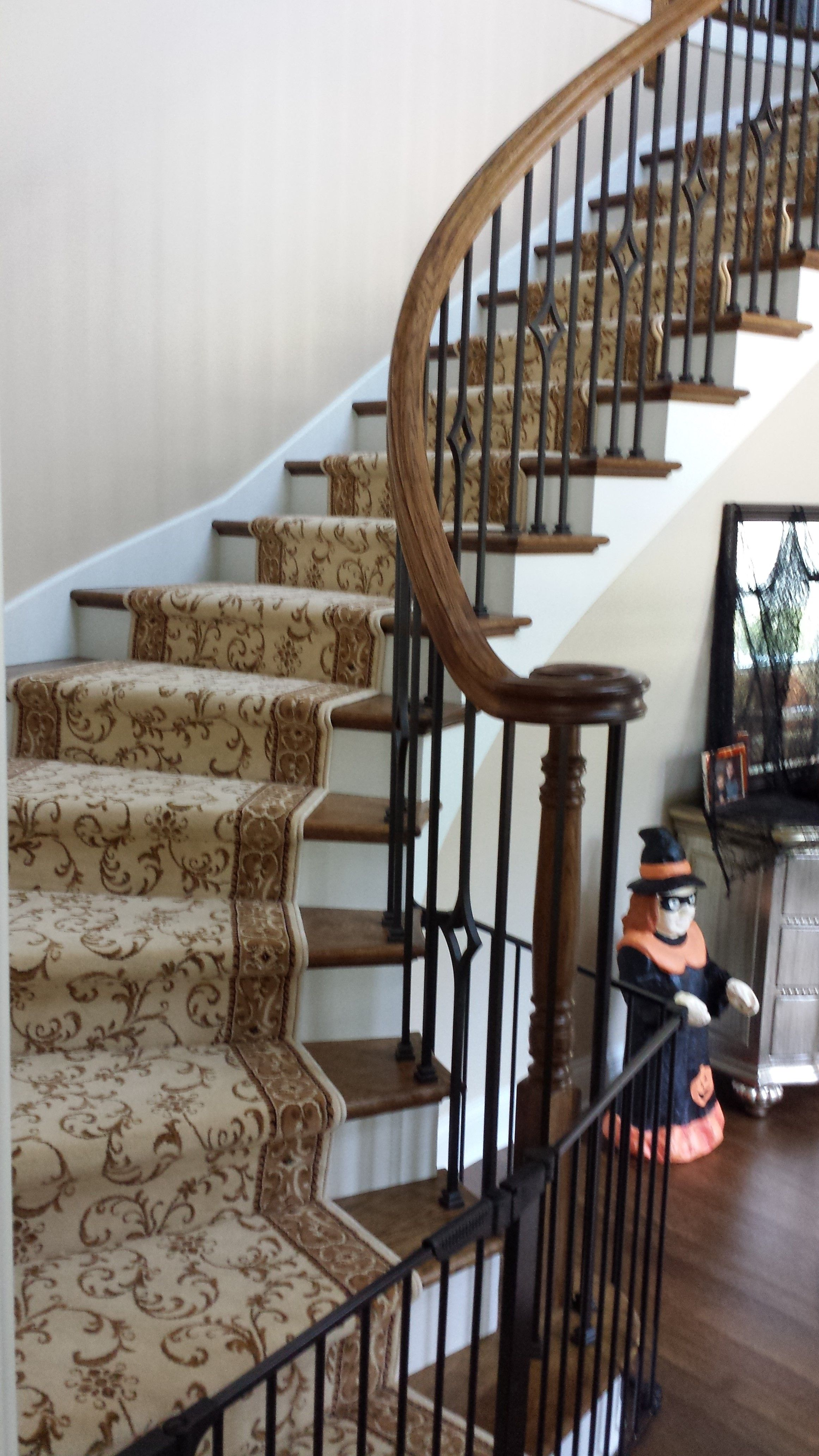 Custom Stair Runner: Installed By Carpets Of Highwood Here We Installed  Stanton Carpet Mills Style