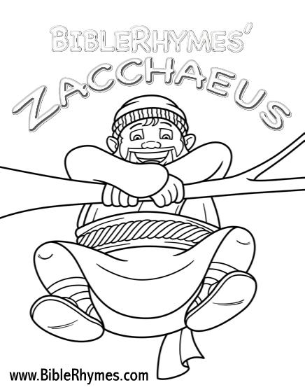 BibleRhymes 39 Zacchaeus Printable