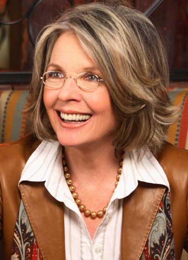 Medium Hair Styles For Women Over 40 Diane Keaton As Christians