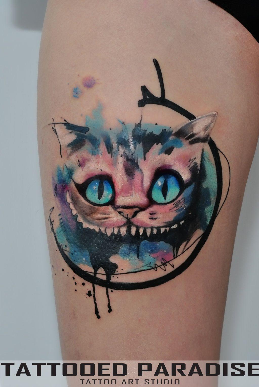 Cheshire Cat Tattoo: Cheshire Cat Tatt By Dopeindulgence