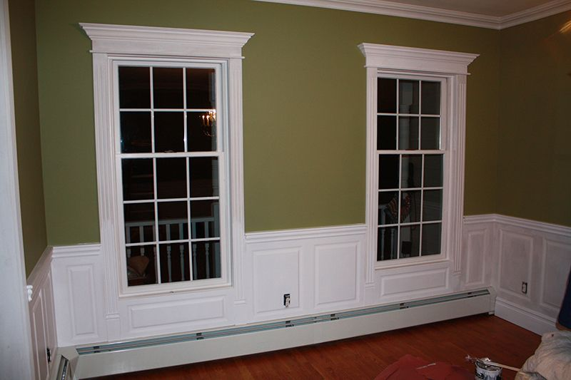 Wainscoting Around Windows Ideas Beaded Raised Panel