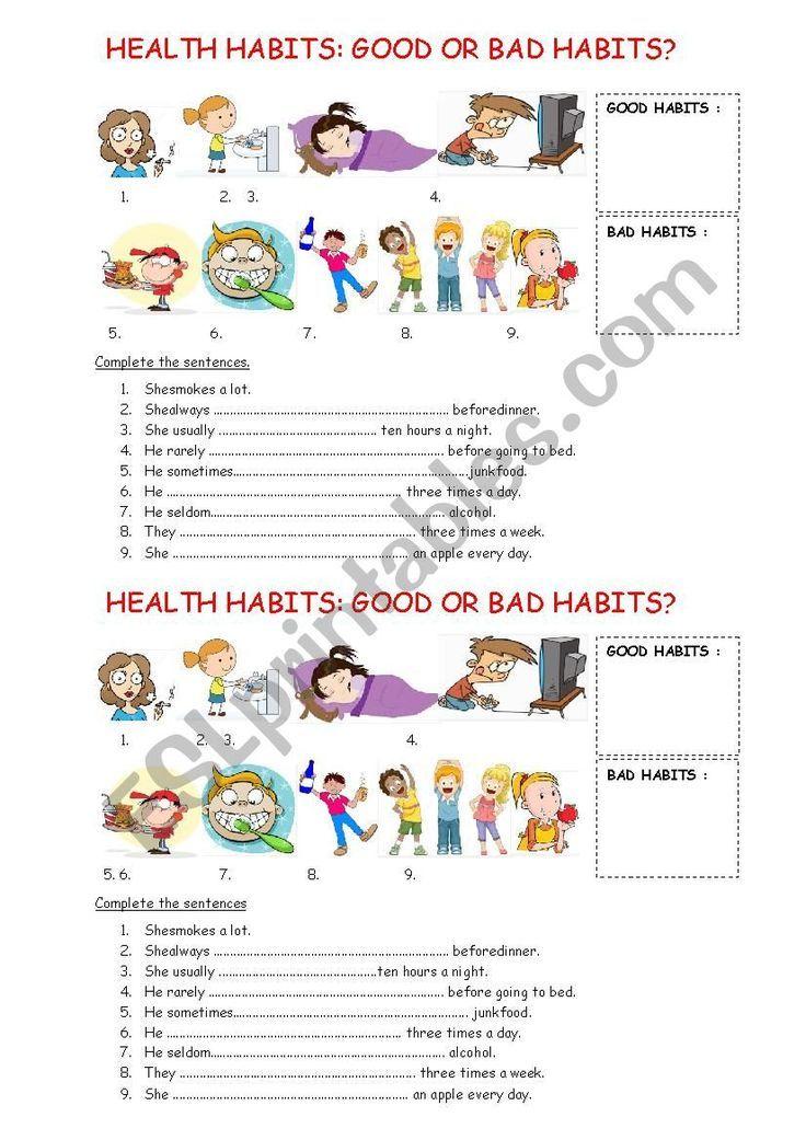 Good habits worksheets for kids in 2020 good habits