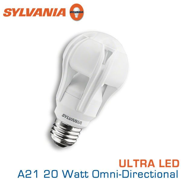 Sylvania Ultra Led A21 20 W Omni Directional 100 Watt Replacement 2700k A21 100 Watt Equal Led Incandescent Bulbs Traditional Lighting