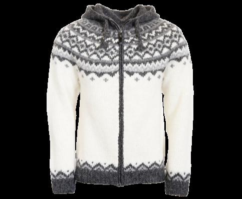 959e1c77e1e5 Skjöldur Icelandic wool sweater zip and hood