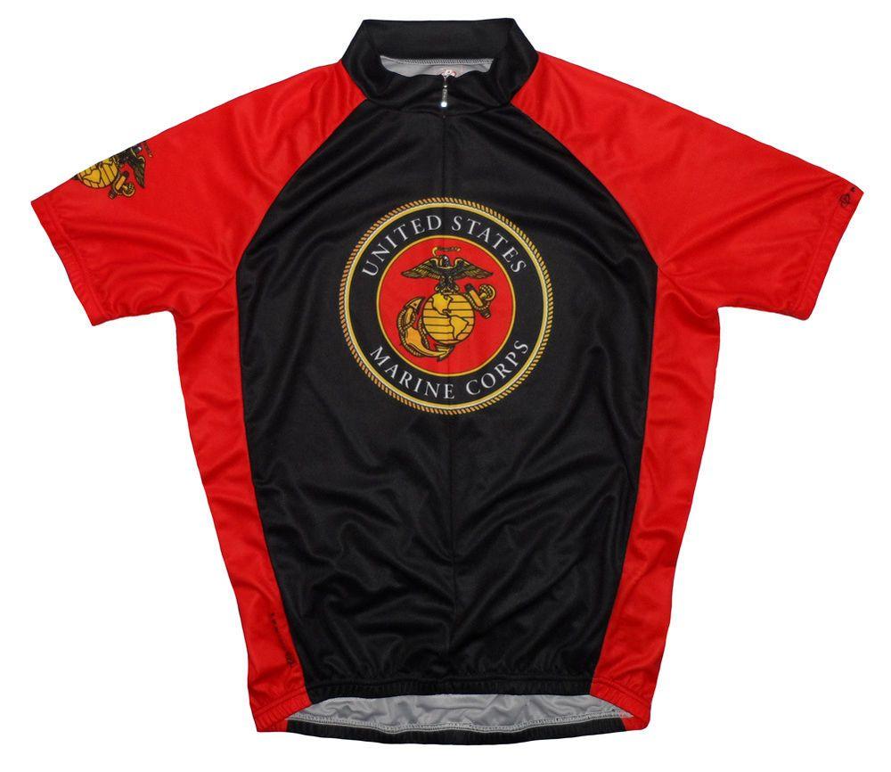 Primal Wear Marines Emblem Short Sleeve USMC Cycling Jersey Men s with Socks b96a550ce
