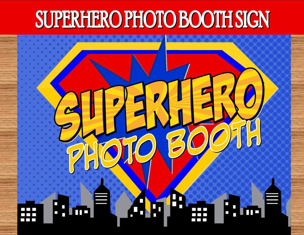 COMIC Party - Superhero PHOTO BOOTH SIGN - Superhero Birthday - Superhero Party - Comic Party - Superhero Photo Props