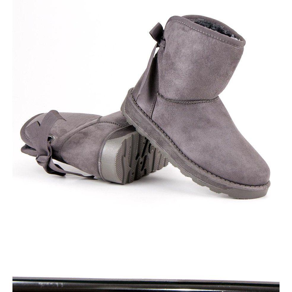 Mukluki Z Kokarda Szare Boots Ugg Boots Uggs