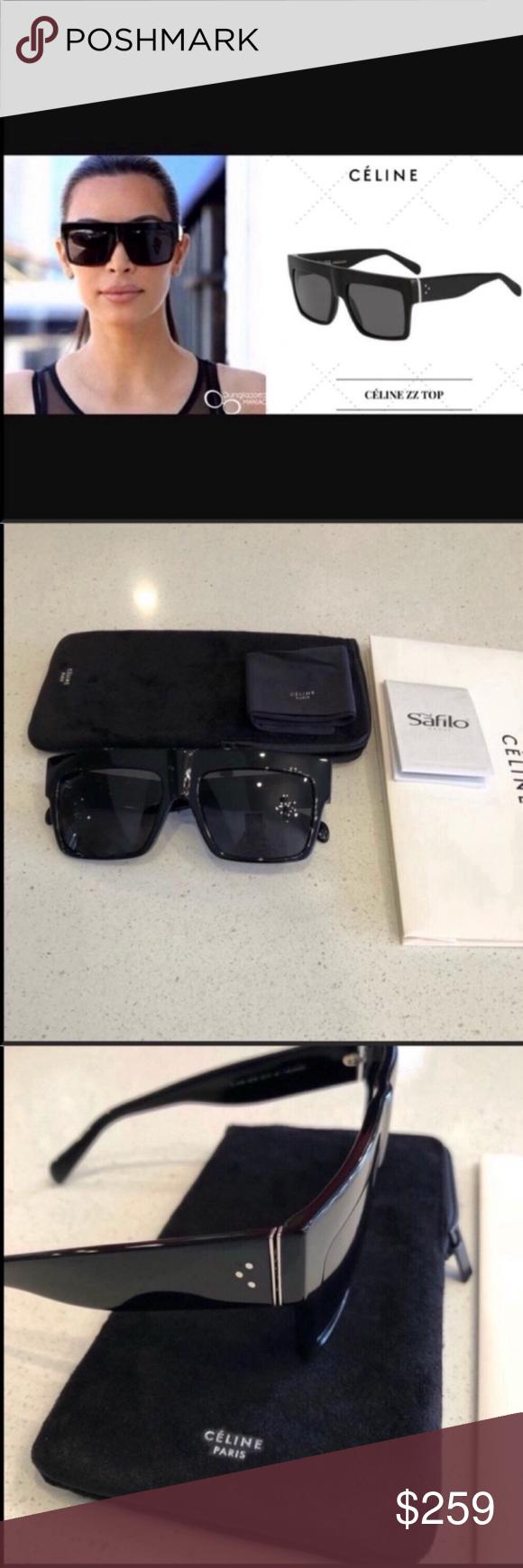 3592bf07a02 Celine sunglasses 🔥 Celine ZZ Top Black grey polarized sunglasses New  condition. 100% authentic guaranteed Includes Celine card