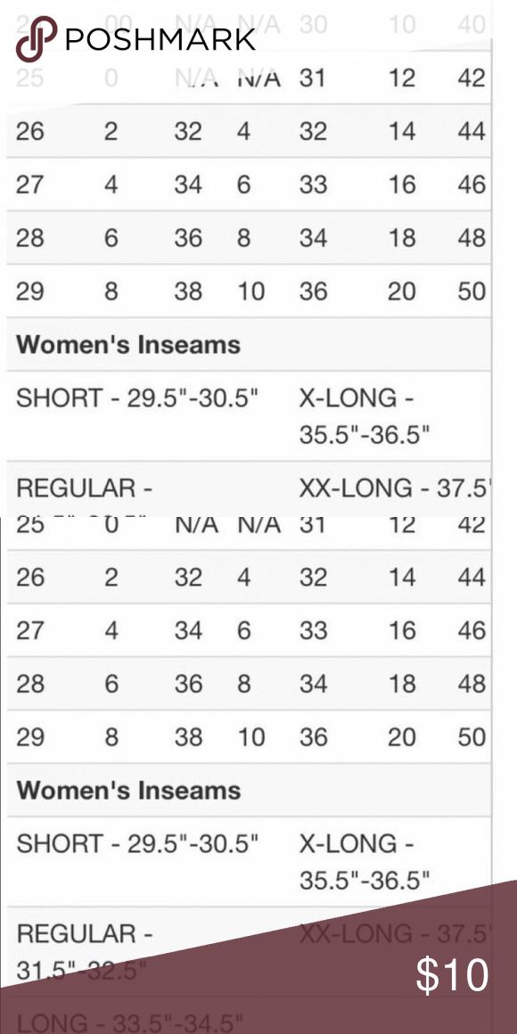 Bke Size Chart Jeans Size Chart Silver Jeans Size Chart Jeans Size