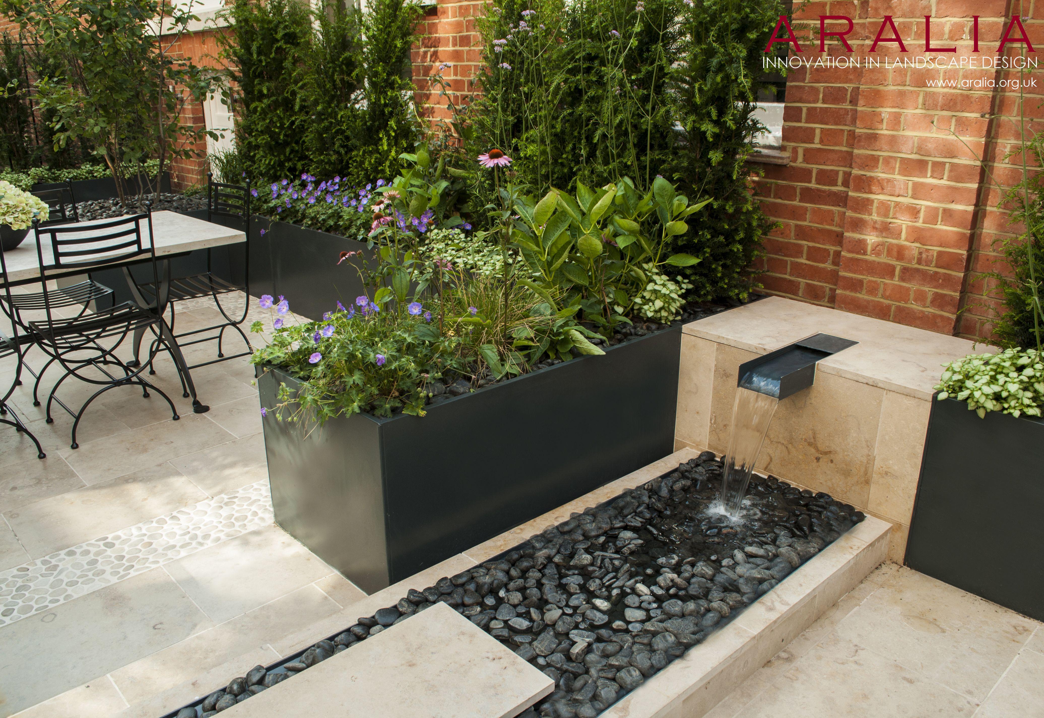 Knightsbridge Roof Terrace Winner Of The New Homes Garden Awards 2014 For Best Roof Te Modern Water Feature Modern Garden Design Water Features In The Garden