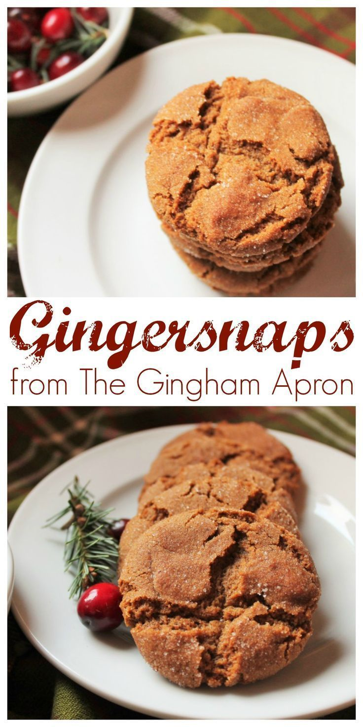 Gingersnaps  The Gingham Apron Gingersnaps Grandmas recipe that is perfect for Christmas